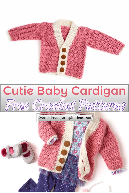 Free Crochet Cutie Baby Cardigan Pattern