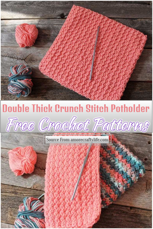 Double Thick Crunch Stitch Pattern