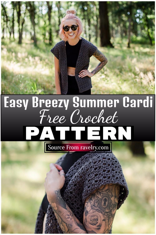 Free Crochet Easy Breezy Summer Cardi 1