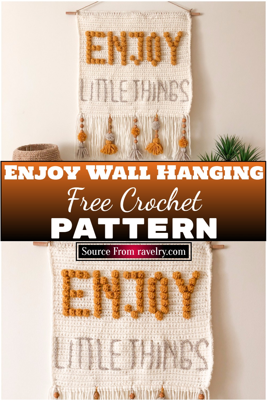 Free Crochet Enjoy Wall Hanging 1