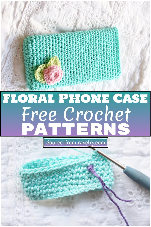 Free Crochet Floral Phone Case