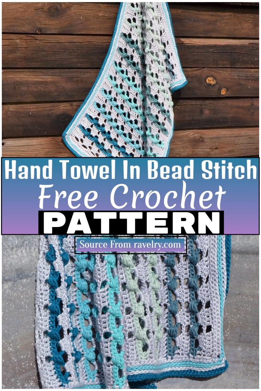 Free Crochet Hand Towel In Bead Stitch 1