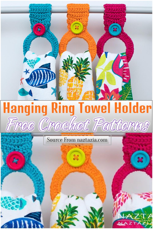 Free Crochet Hanging Ring Towel Holder Pattern