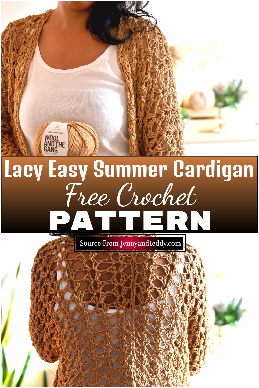 Free Crochet Lacy Easy Summer Cardigan Pattern