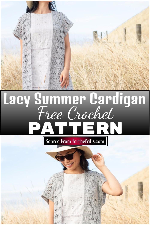 Free Crochet Lacy Summer Cardigan Pattern