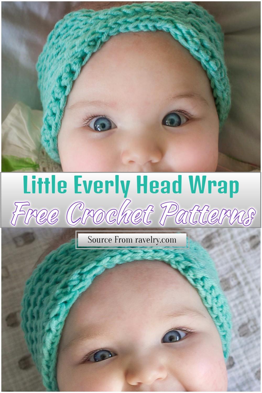 Free Crochet Little Everly Head Wrap