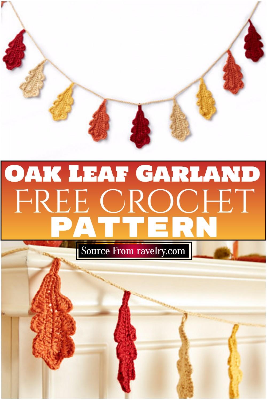 Free Crochet Oak Leaf Garland Pattern