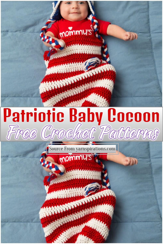 Free Crochet Patriotic Baby Cocoon Pattern