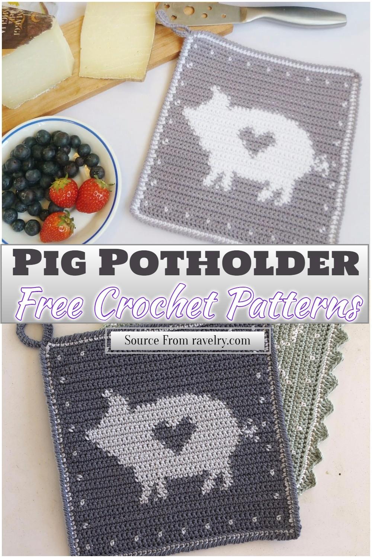 Free Crochet Pig Potholder Pattern