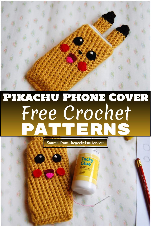 Free Crochet Pikachu Phone Cover