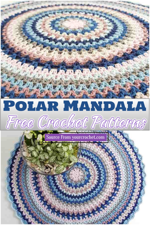 Free Crochet Polar Mandala