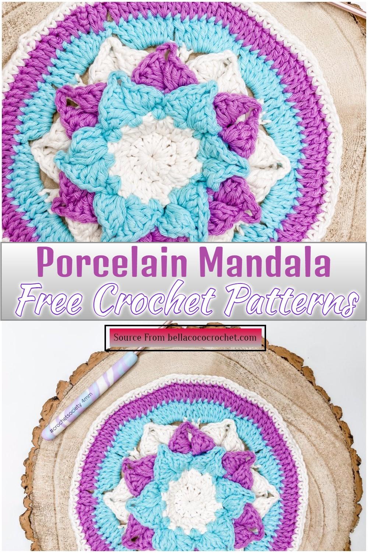 Free Crochet Porcelain Mandala