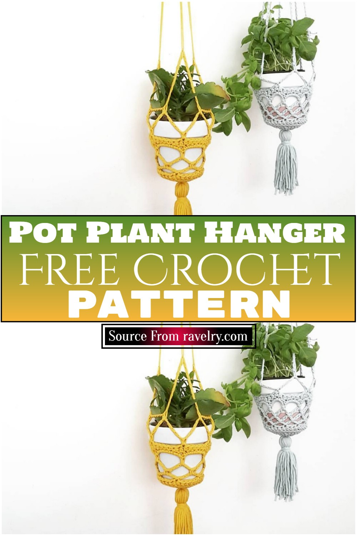 Free Crochet Pot Plant Hanger Pattern