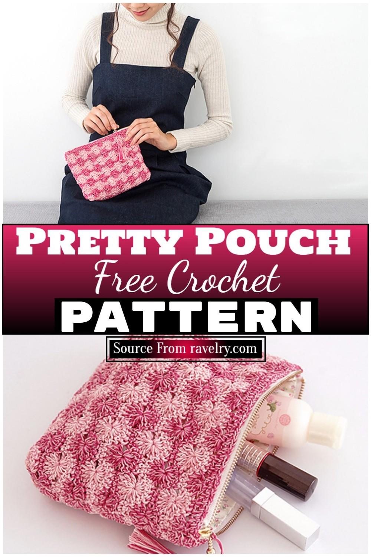Free Crochet Pretty Pouch 1
