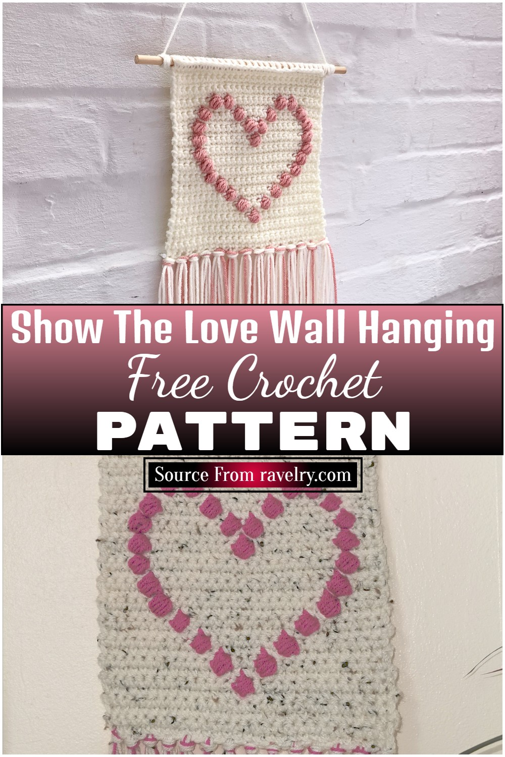 Free Crochet Show The Love Wall Hanging 1