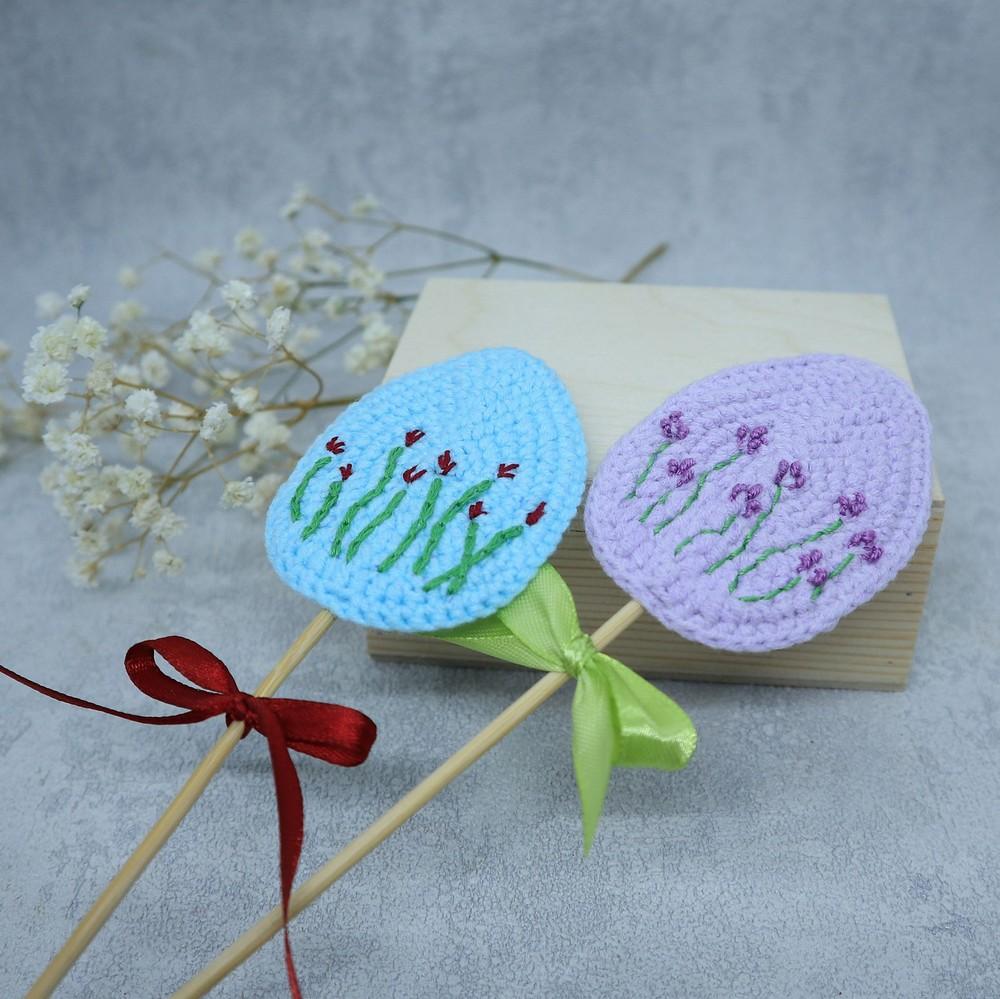 Free Crochet Simple Easter Egg Ornament Pattern