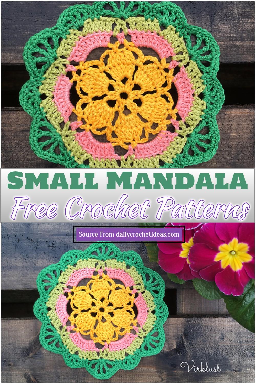 Free Crochet Small Mandala