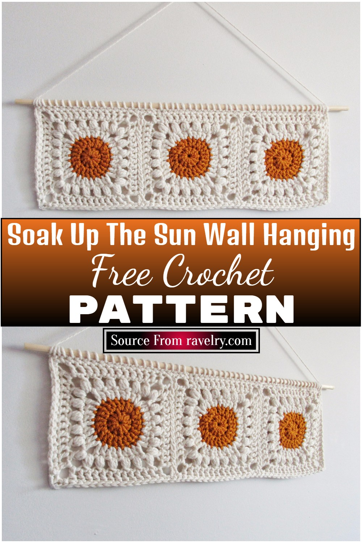 Free Crochet Soak Up The Sun Wall Hanging 1
