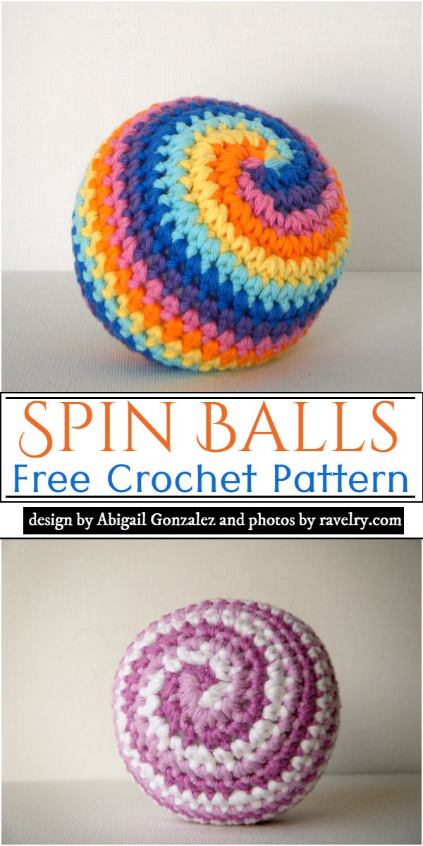 Free Crochet Spin Balls Pattern