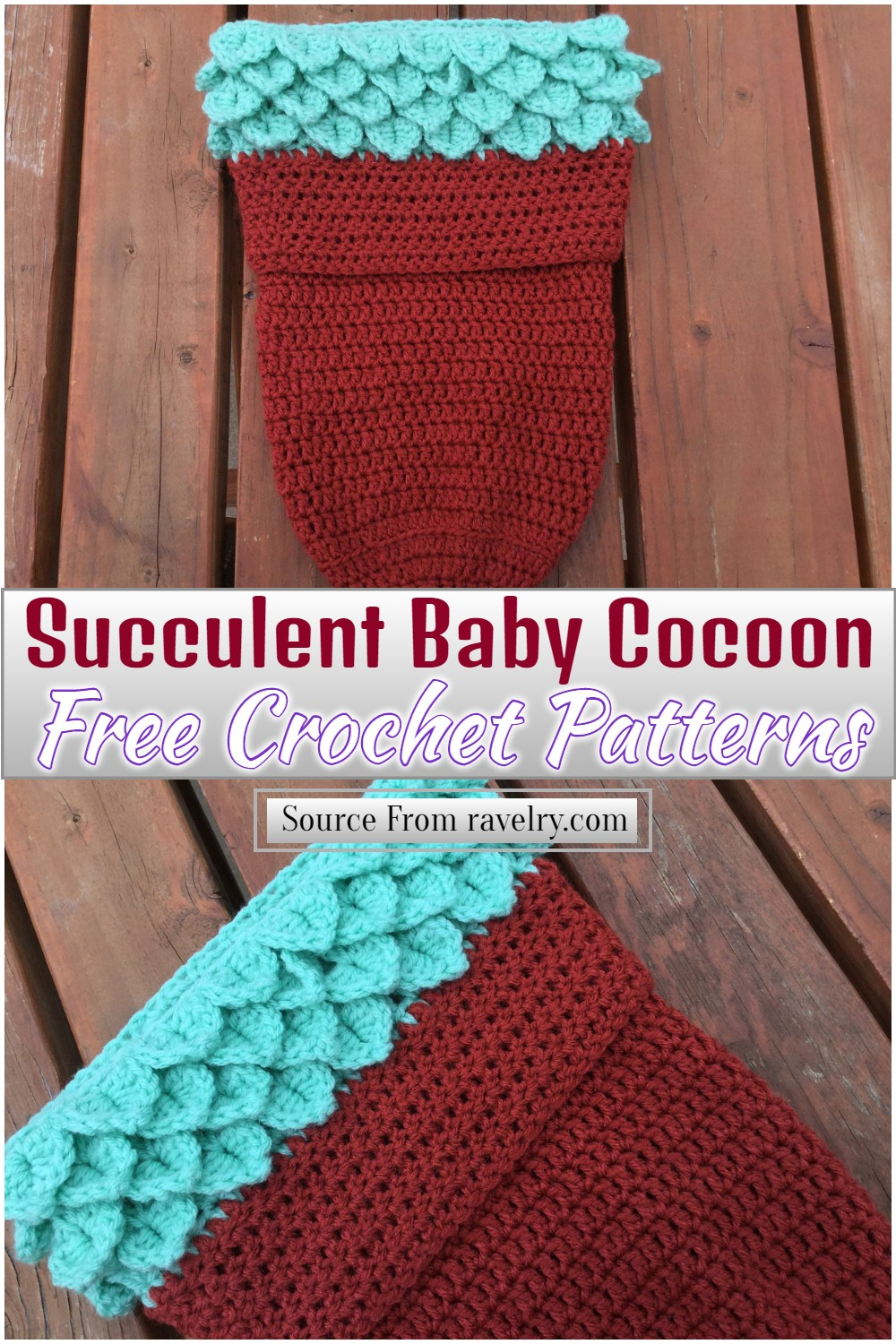 Free Crochet Succulent Baby Cocoon Pattern