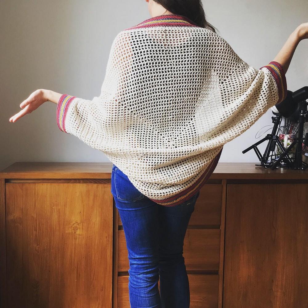 Free Crochet Summer Cotton Cocoon Cardigan Pattern