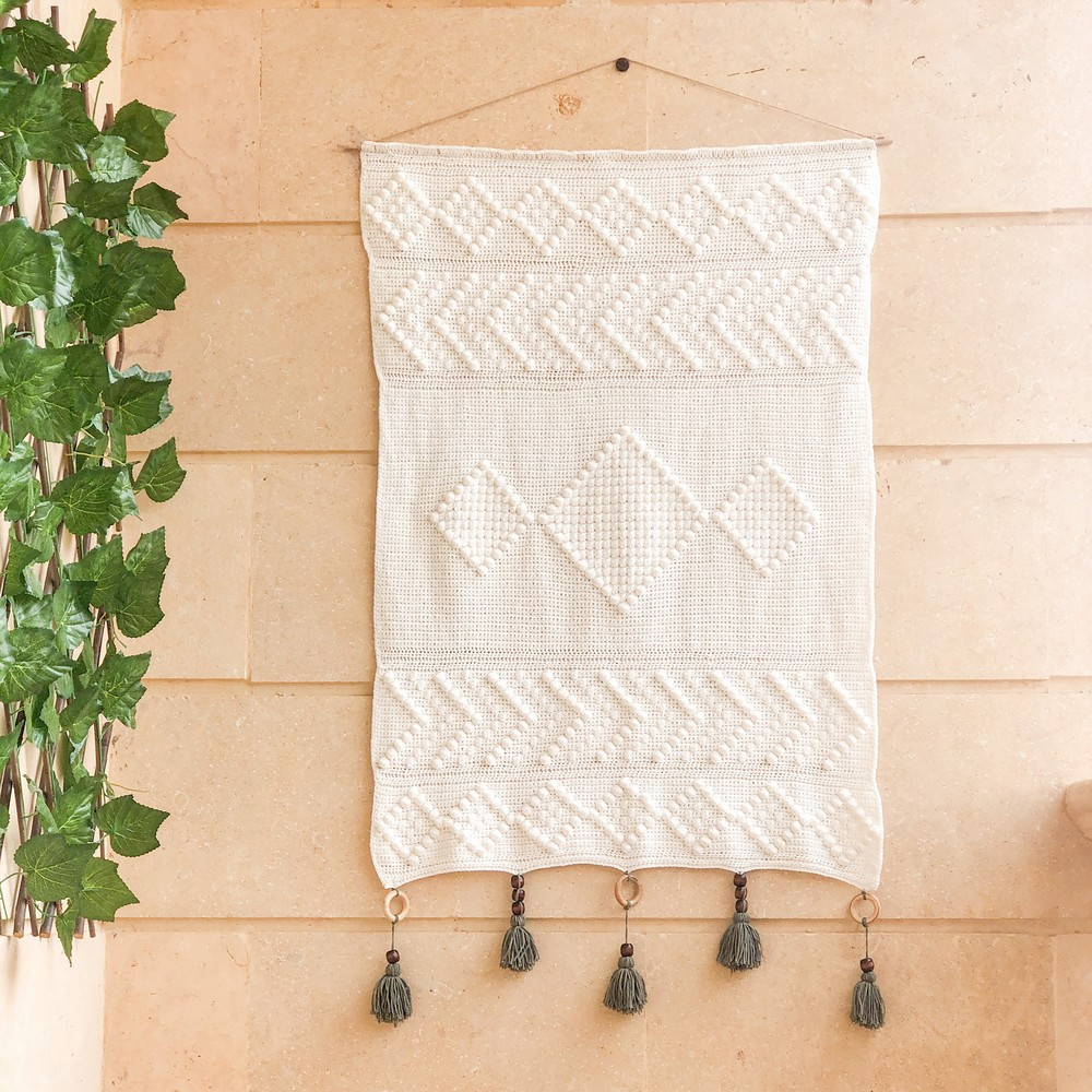 Free Crochet Textured Wall Hanging