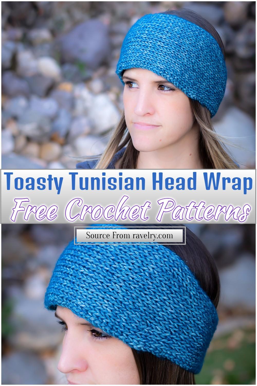 Free Crochet Toasty Tunisian Head Wrap
