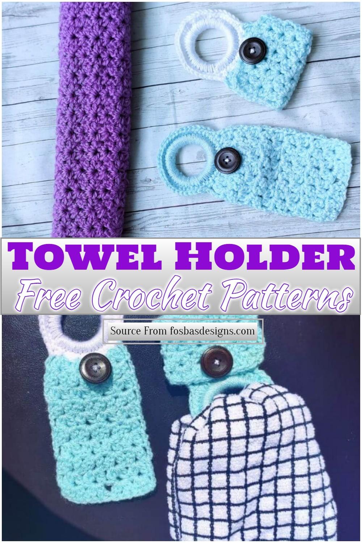 Free Crochet Towel Holder Pattern 1