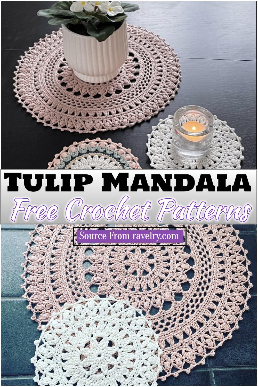 Free Crochet Tulip Mandala