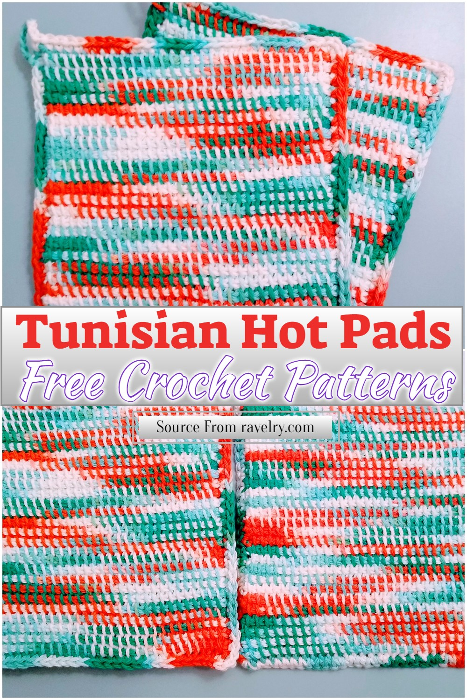 Free Crochet Tunisian Hot Pads Pattern
