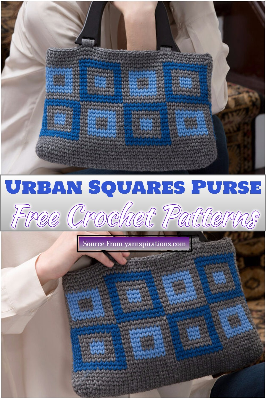 Free Crochet Urban Squares Purse