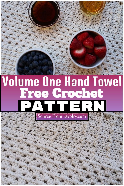 Free Crochet Volume One Hand Towel 1