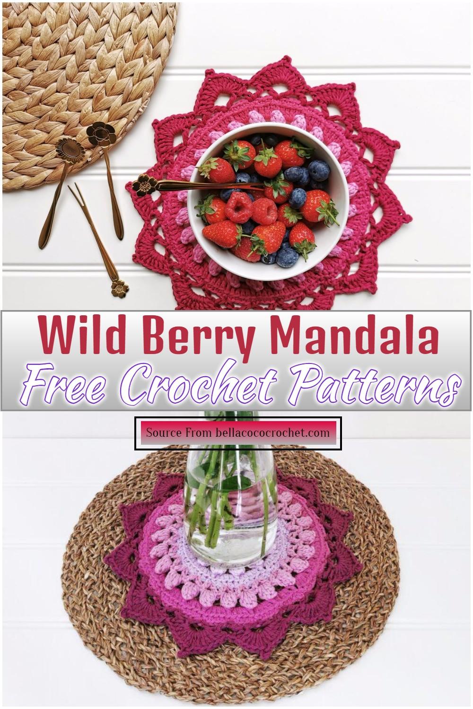 Free Crochet Wild Berry Mandala