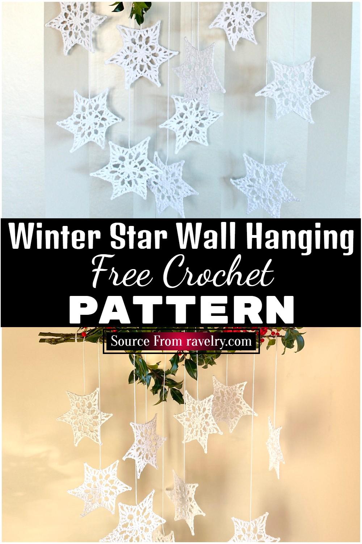 Free Crochet Winter Star Wall Hanging 1