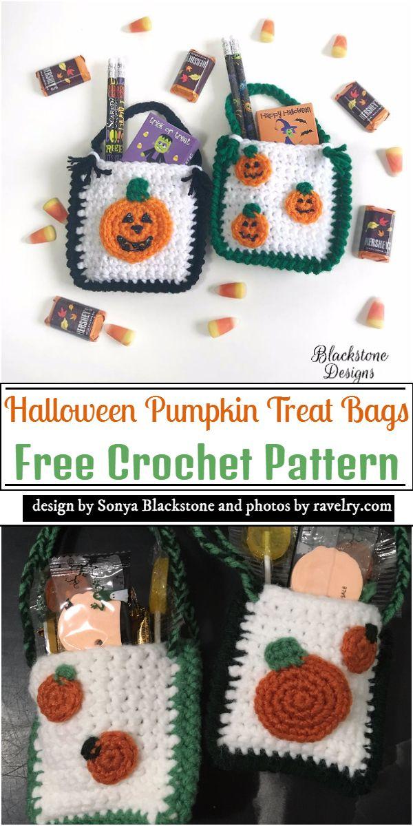 Halloween Treat Bags Crochet Pattern