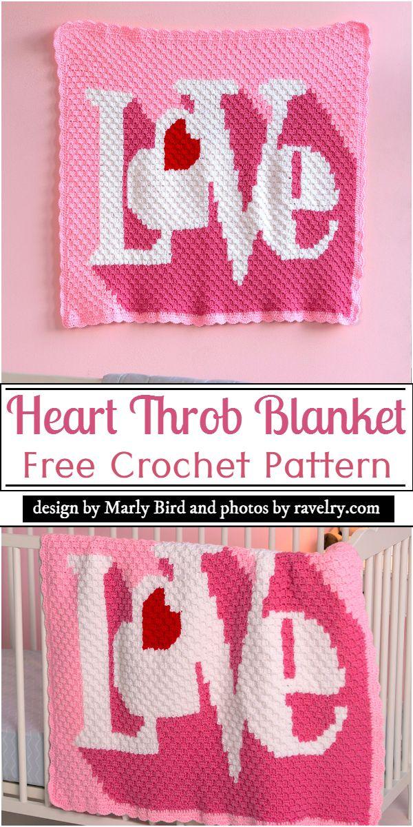 Heart Throb Blanket Crochet Pattern