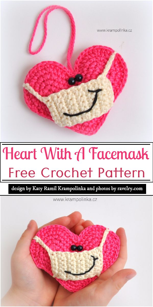 Heart With A Facemask Crochet Pattern