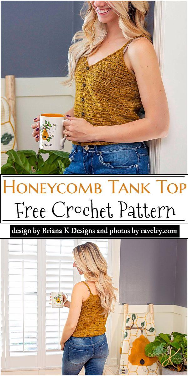 Honeycomb Tank Top Crochet Pattern