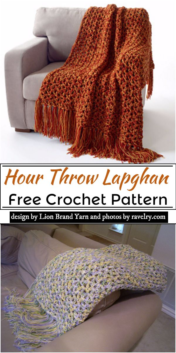 Hour Throw Lapghan Crochet Pattern
