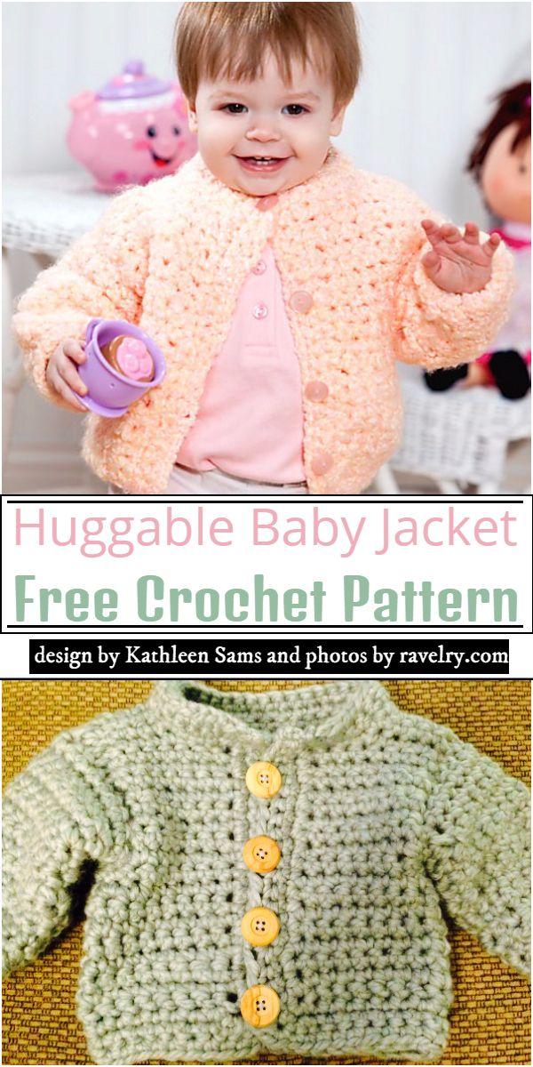 Huggable Baby Jacket Crochet Pattern