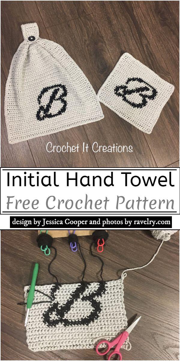 Initial Crochet Hand Towel Pattern