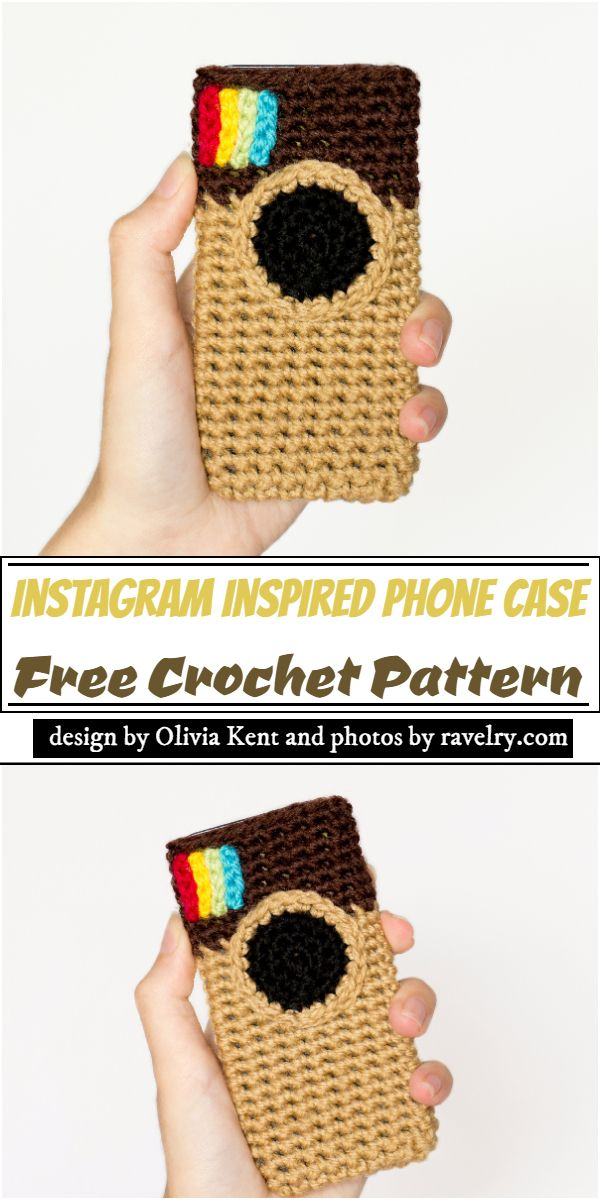 Instagram Inspired mobile pouch Pattern