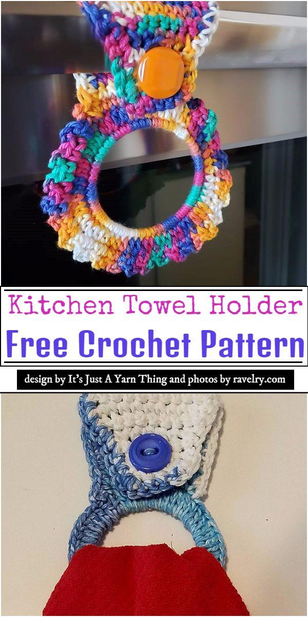Kitchen Towel Holder Crochet Pattern