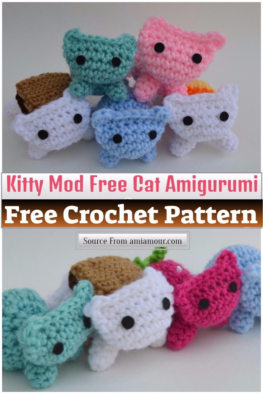 Kitty Mod Free Cat Amigurumi Pattern 1