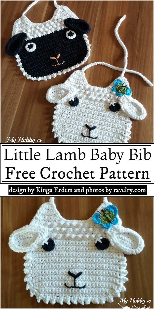 Little Lamb Baby Bib Crochet Pattern