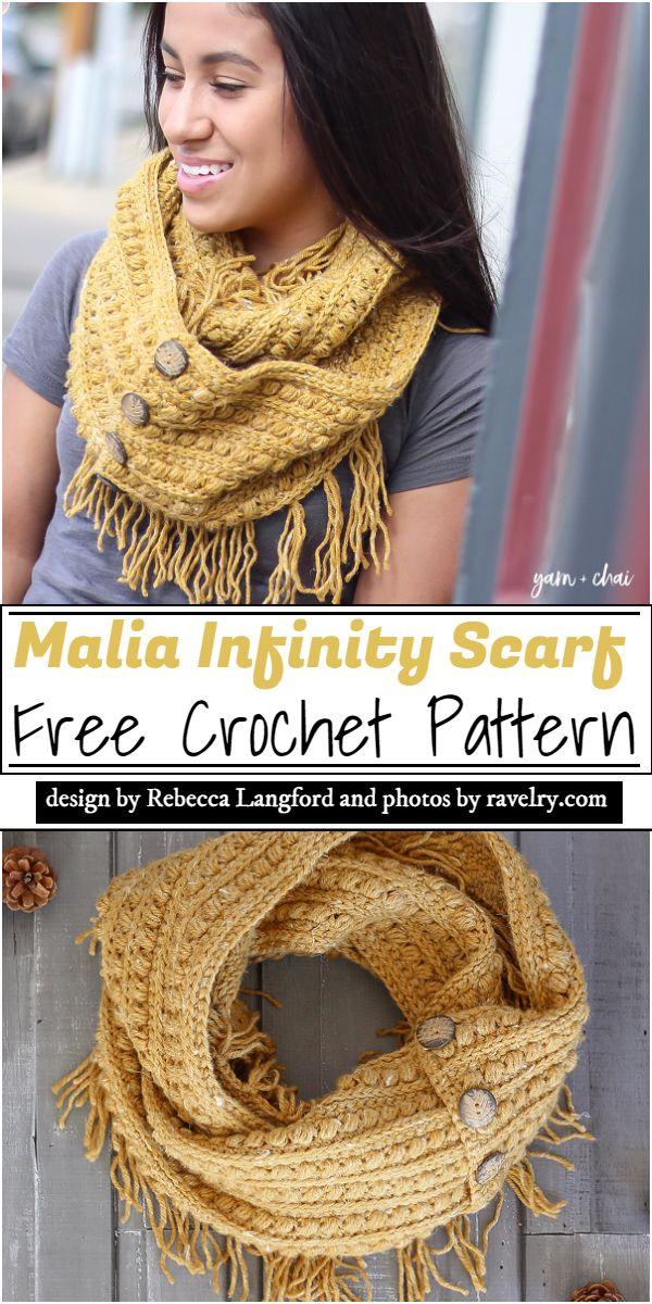 Malia Infinity Scarf Crochet Pattern