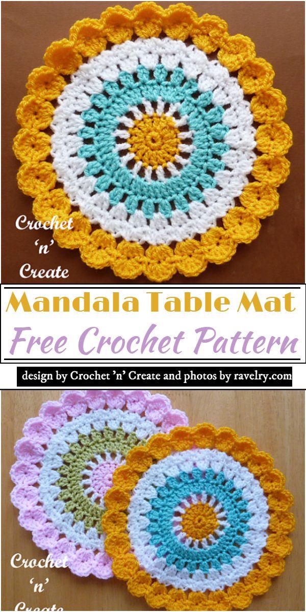 Mandala Table Mat Crochet Pattern