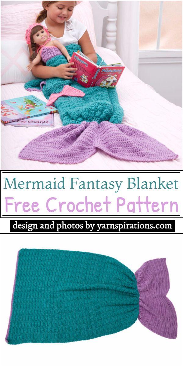 Mermaid Fantasy Blanket Crochet Pattern