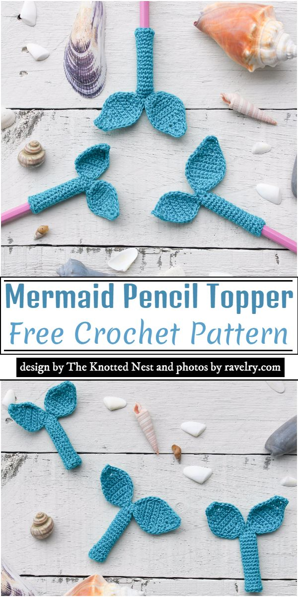 Mermaid Pencil Topper Crochet Pattern