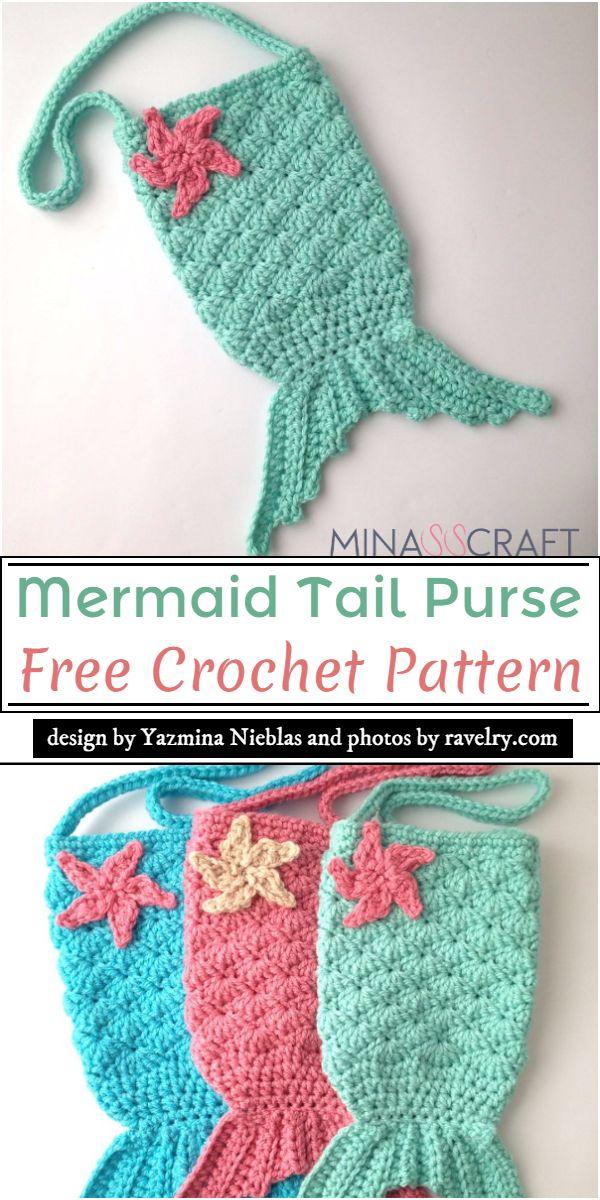Mermaid Tail Purse Crochet Pattern